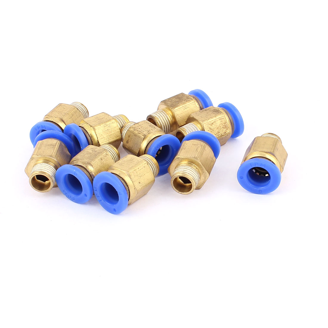 10Pcs 9.5mm 1/8B to 8mm Hose Air Pneumatic Coupler Fitting Pipe Connector Joint