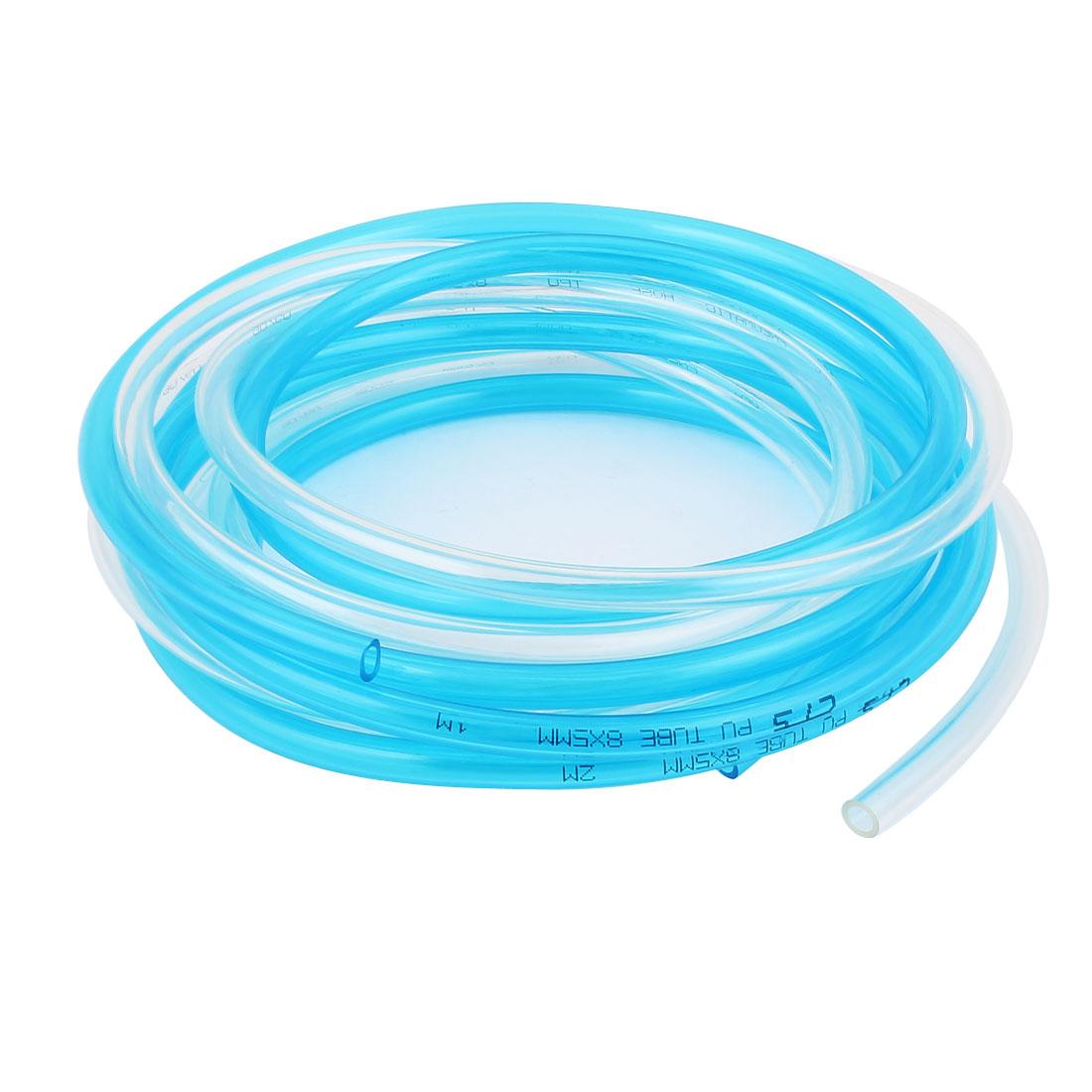PU Polyurethane Flexible Air Tubing Pneumatic Pipe Tube Hose 8x5mm 2.85M 2Pcs