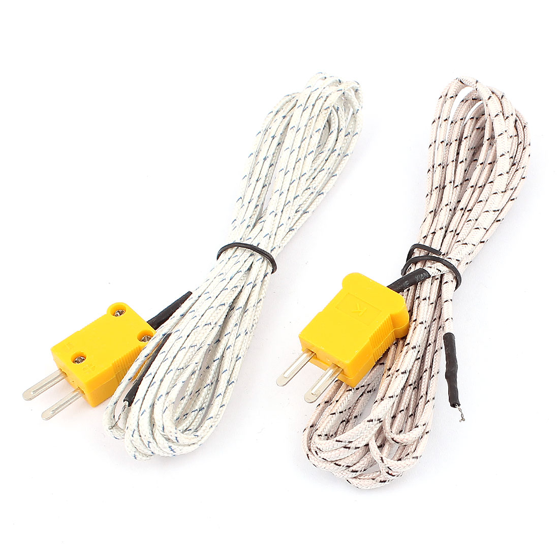 K Type Temperature Measuring Thermocouple Probe Wire Lead -50 to +204C 300cm 10Ft Long 2pcs