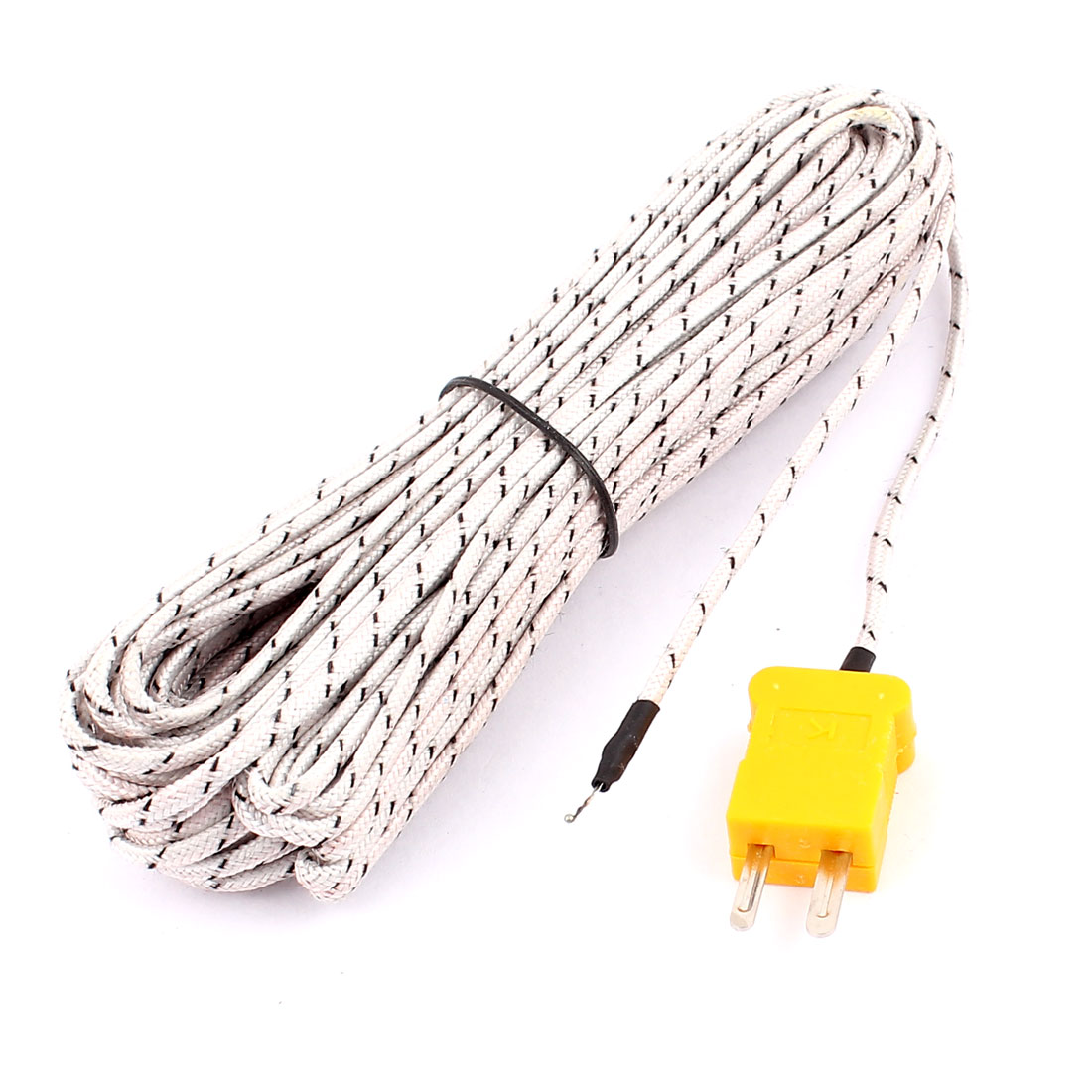 K Type Temperature Measurement Thermocouple Sensor Probe Cable -50 to +204C 1000cm 33Ft Long