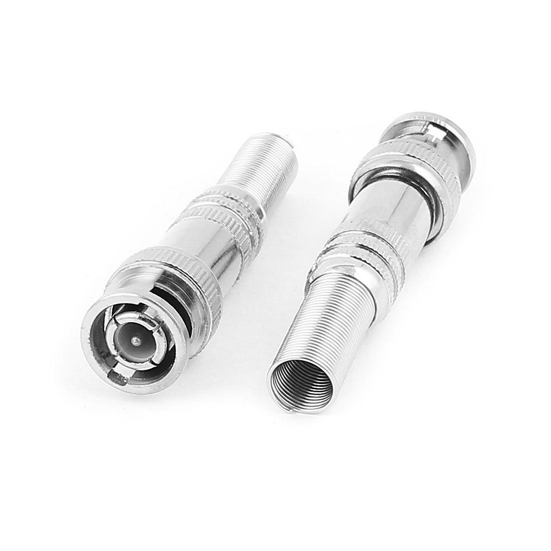 2pcs Spring RF Coaxial RG59 BNC Male Connector Jack Video Adapter for CCVT Camera