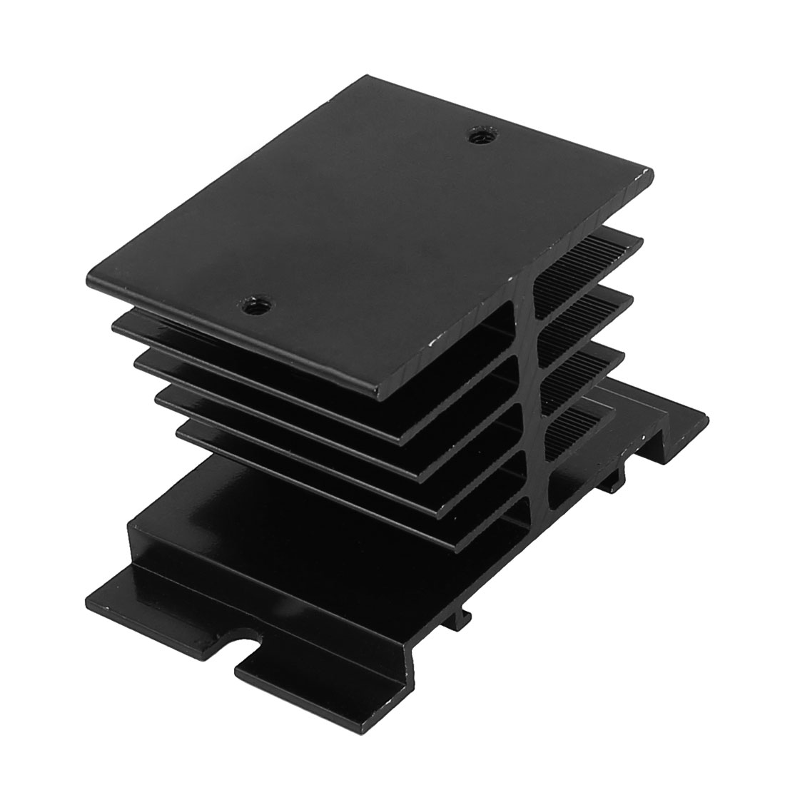 Aluminium Heat Dissipation Solid State Relay Heatsink Cooling Cooler Black