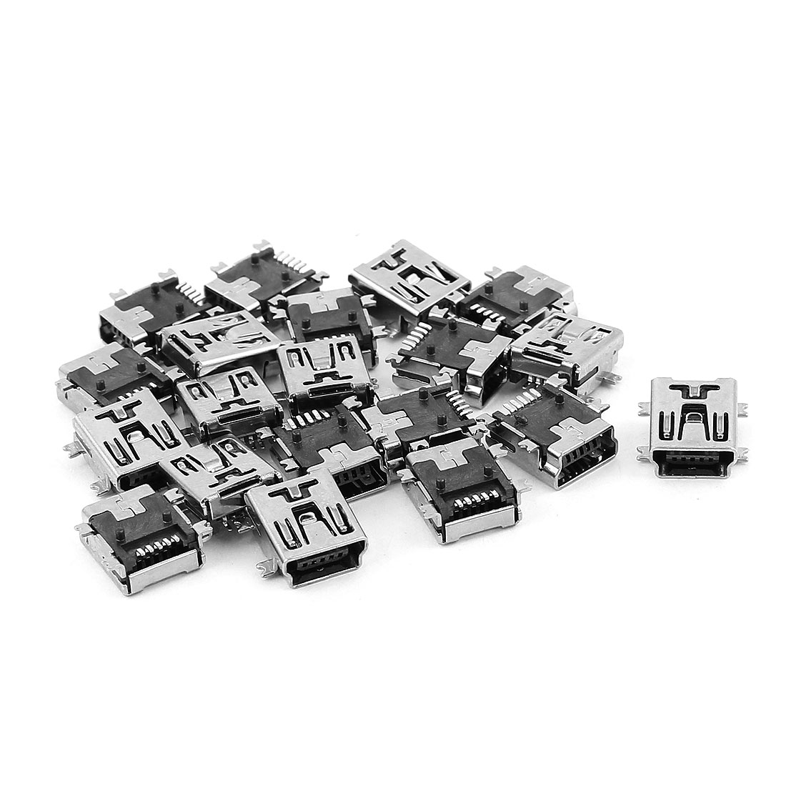 20Pcs USB Mini Type B Female Socket 5-Pin Jack Connector Adapter