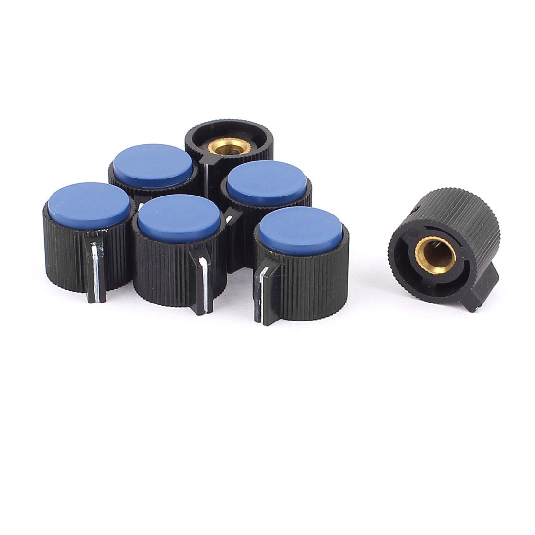 6mm Diameter Plastic Potentiometer Volume Control Knob Cover Cap 7Pcs