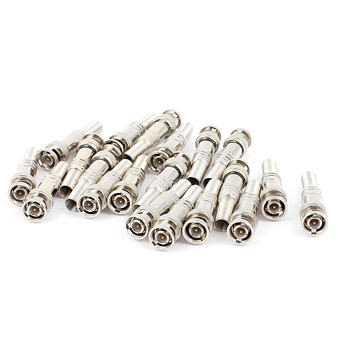 20pcs Solder Twist Spring BNC Male Jack RF Video Adapter Connector for Camera CCTV