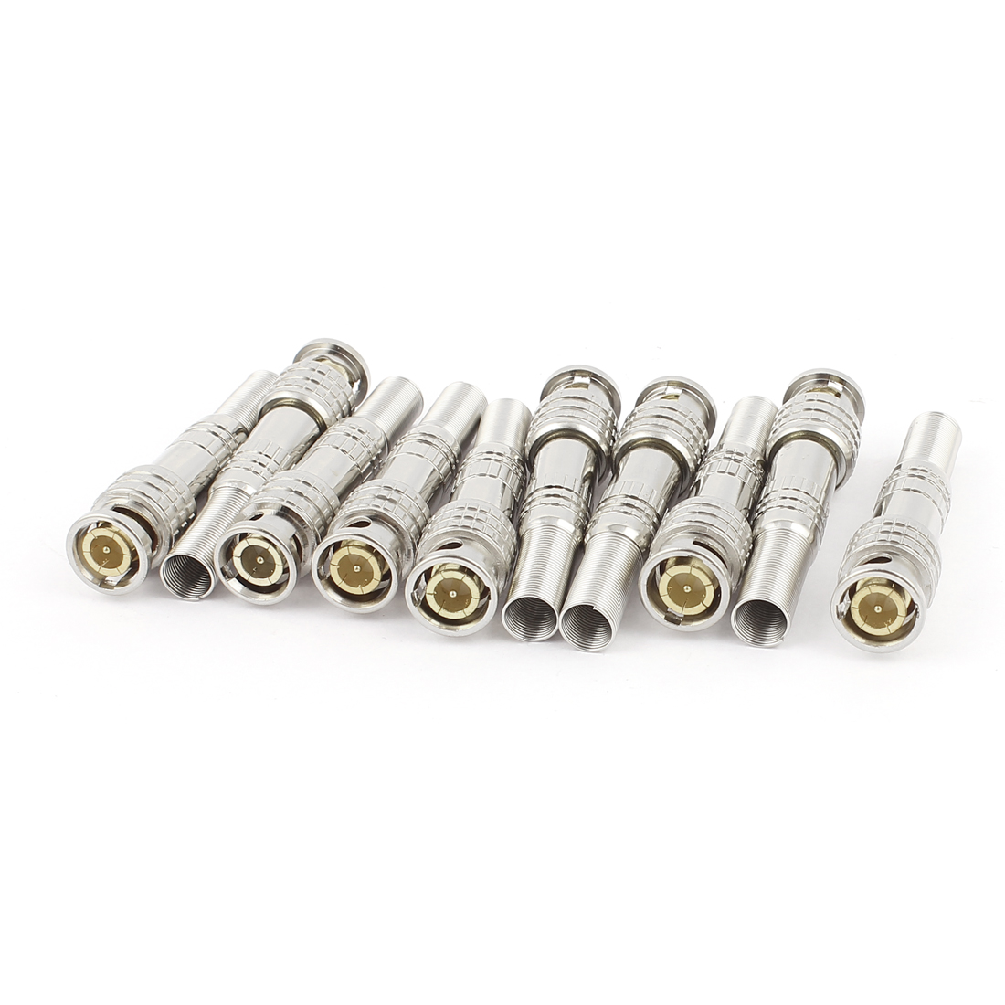 10pcs Spring End Welding Video RF BNC Male Plug Connector Adapter for Coaxial Cable