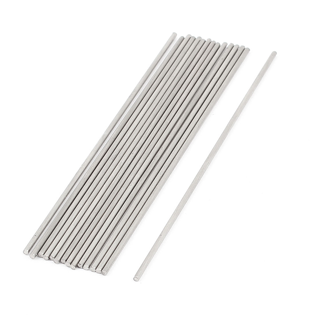 RC Airplane Car Part Stainless Steel Round Rods 1.5mm x 100mm 15 Pcs