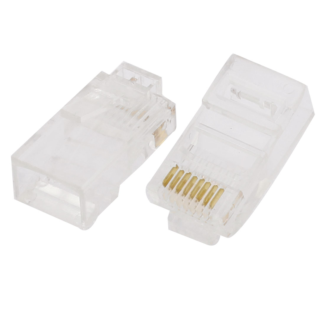 2pcs Network Cable Plastic 8P8C RJ45 Connector Modular End Plug