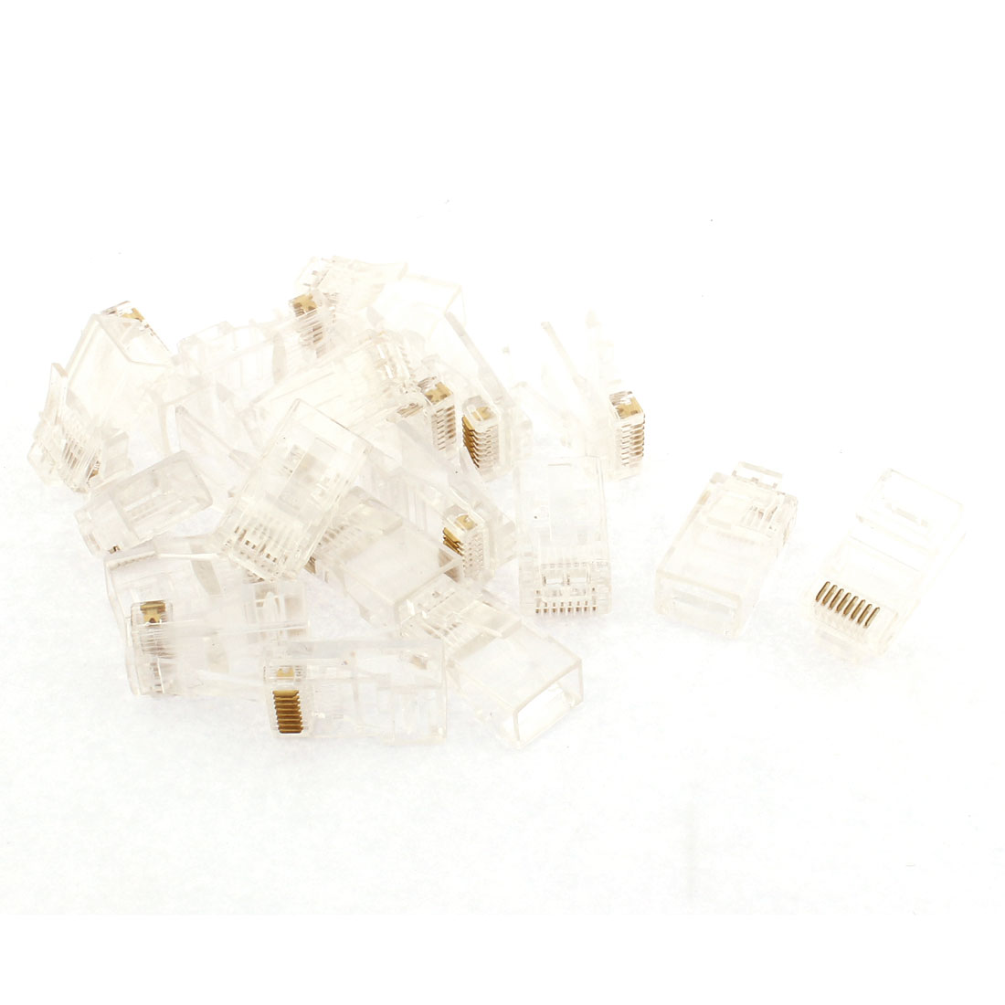 Network Cable CAT5e 8P8C Gold Plated RJ45 Connector Adapter Modular 20pcs