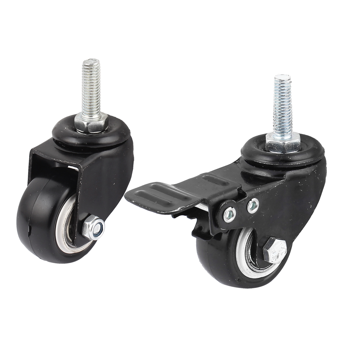 2Pcs Shopping Cart Rotary Plate Nylon Ball Bearing Swivel Caster Wheel
