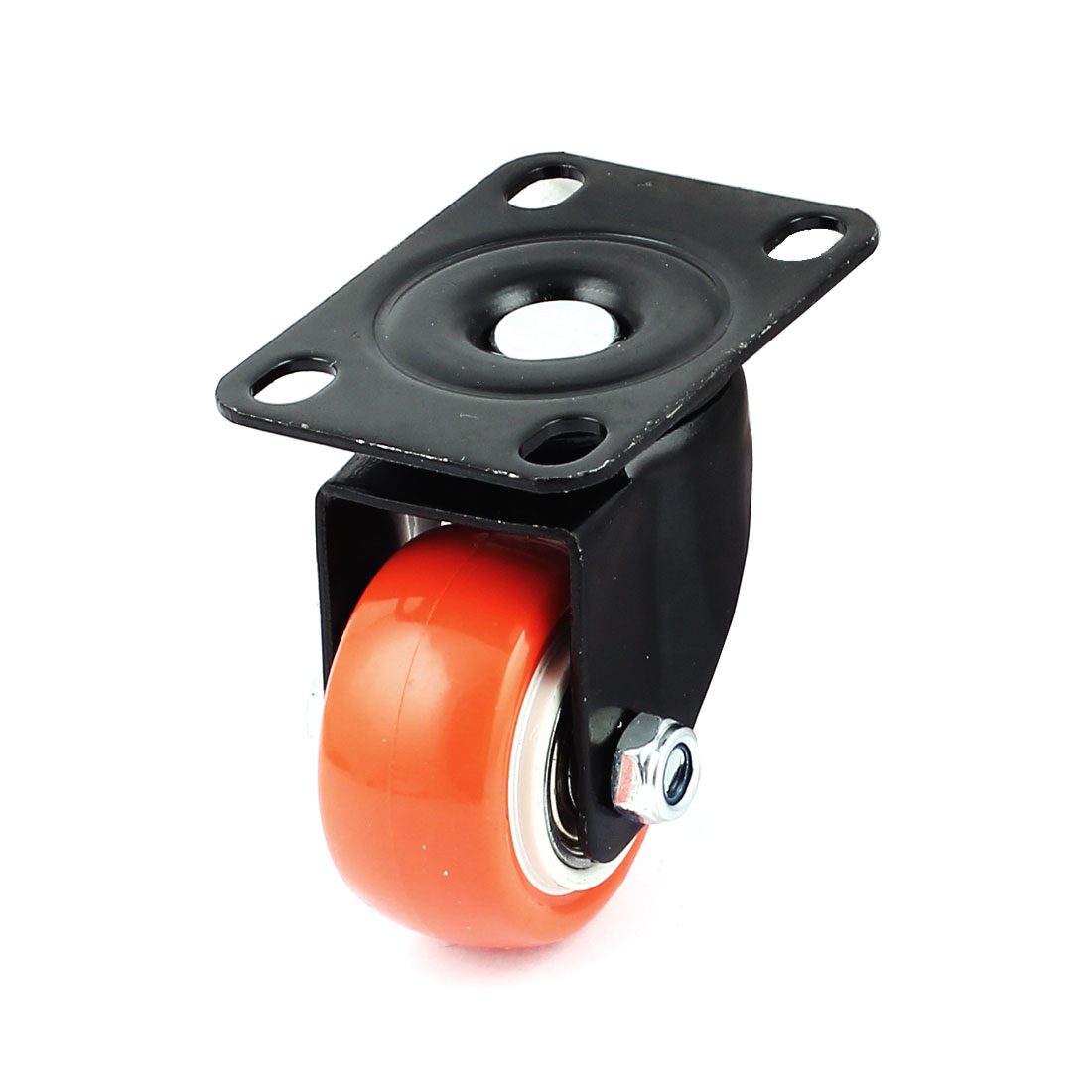 "Shopping Cart Flat Plate 1.5"" Dia Nylon Ball Swivel Caster Wheel"