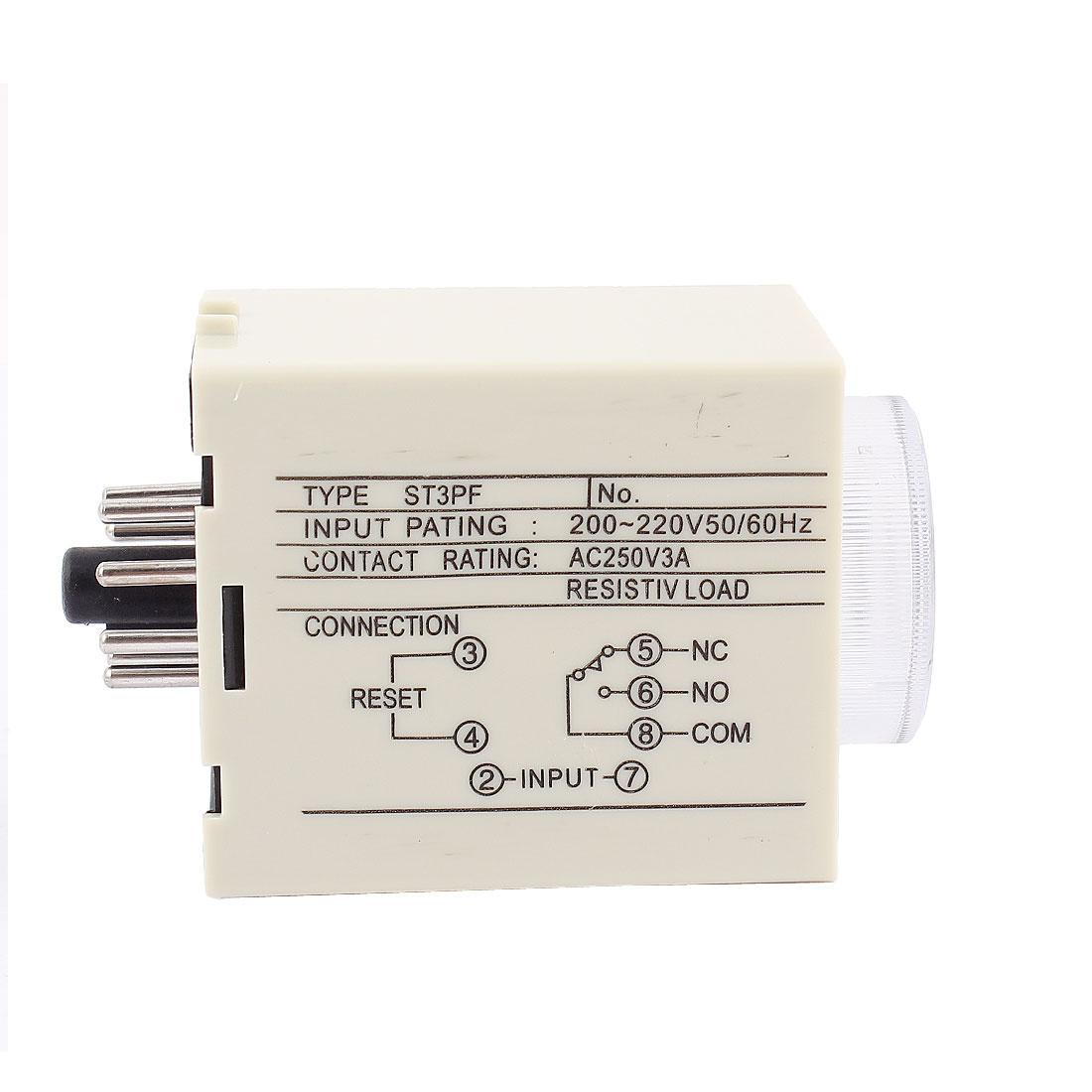 AC 250V 3A 0-60 Second Knob Control Electronic Timer Delay Relay ST3PF