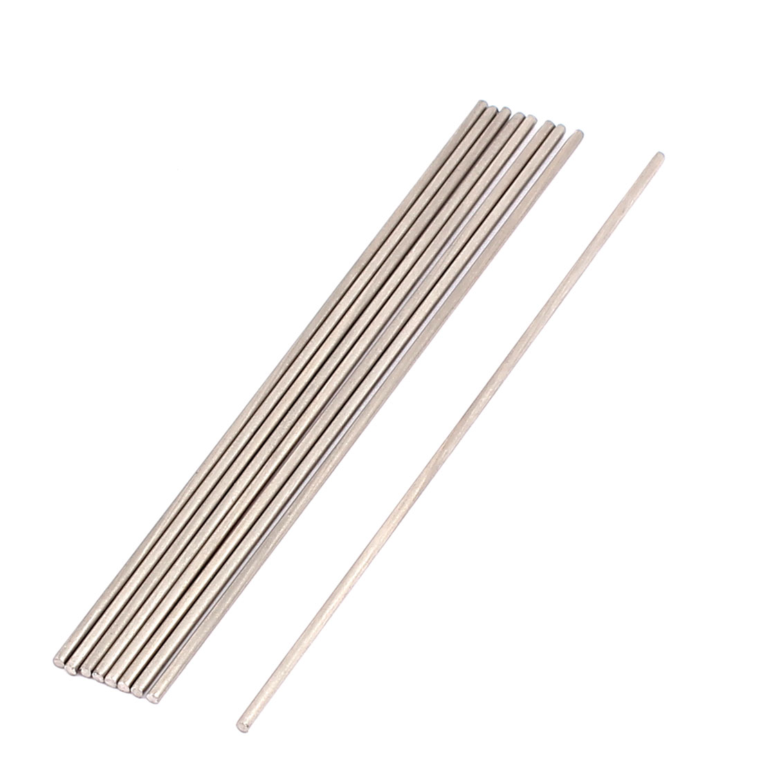 RC Airplane Car Part Stainless Steel Round Rods 1.5mm x 100mm 10 Pcs