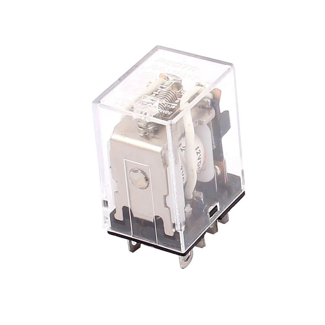 JQX-13F DC 12V Coil 8-Pin DPDT Power Relay AC 220V 7.5A DC 24V 10A