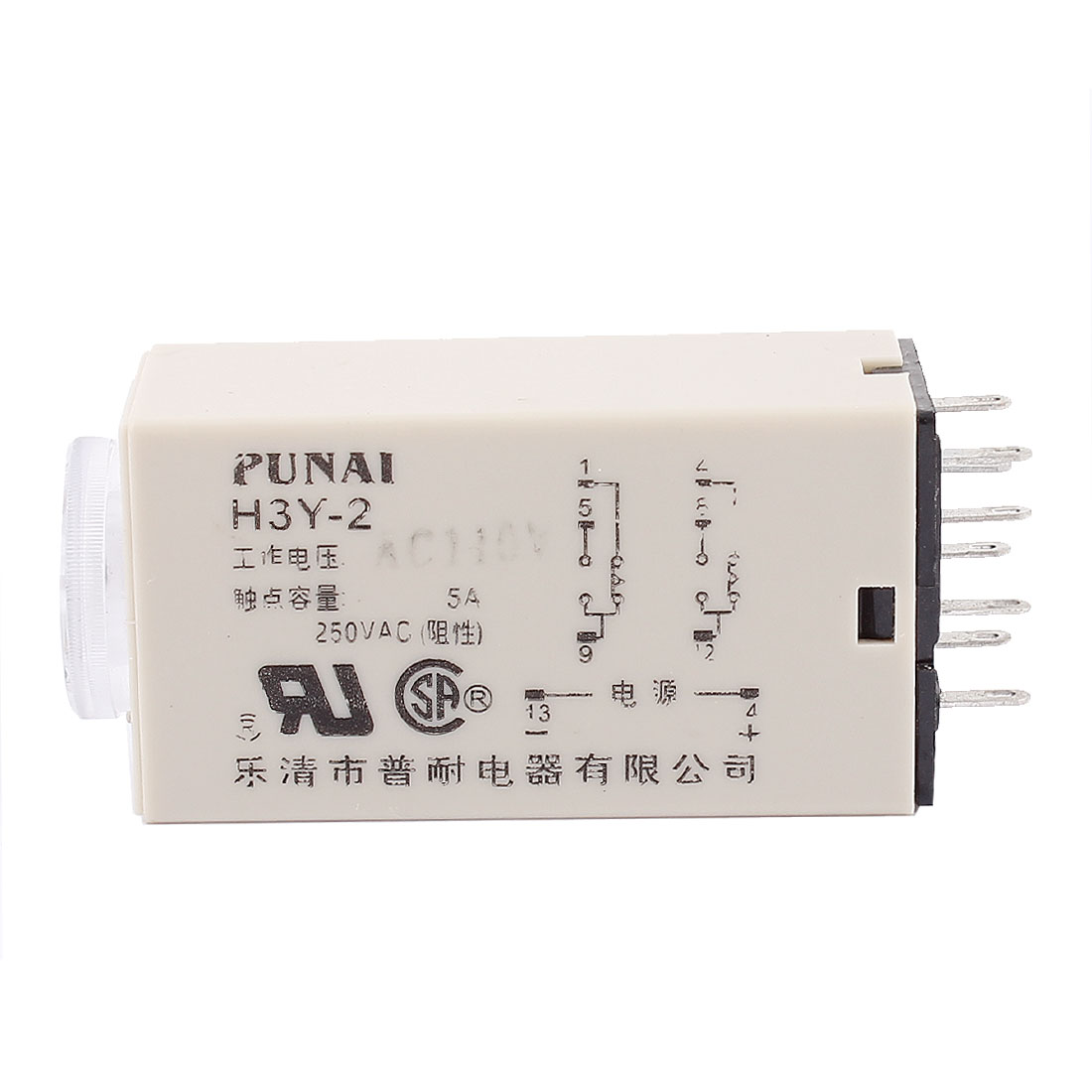 AC 110V 8 Pins DPDT 0-60 Seconds Electric Time Delay Relay Timer H3Y-2