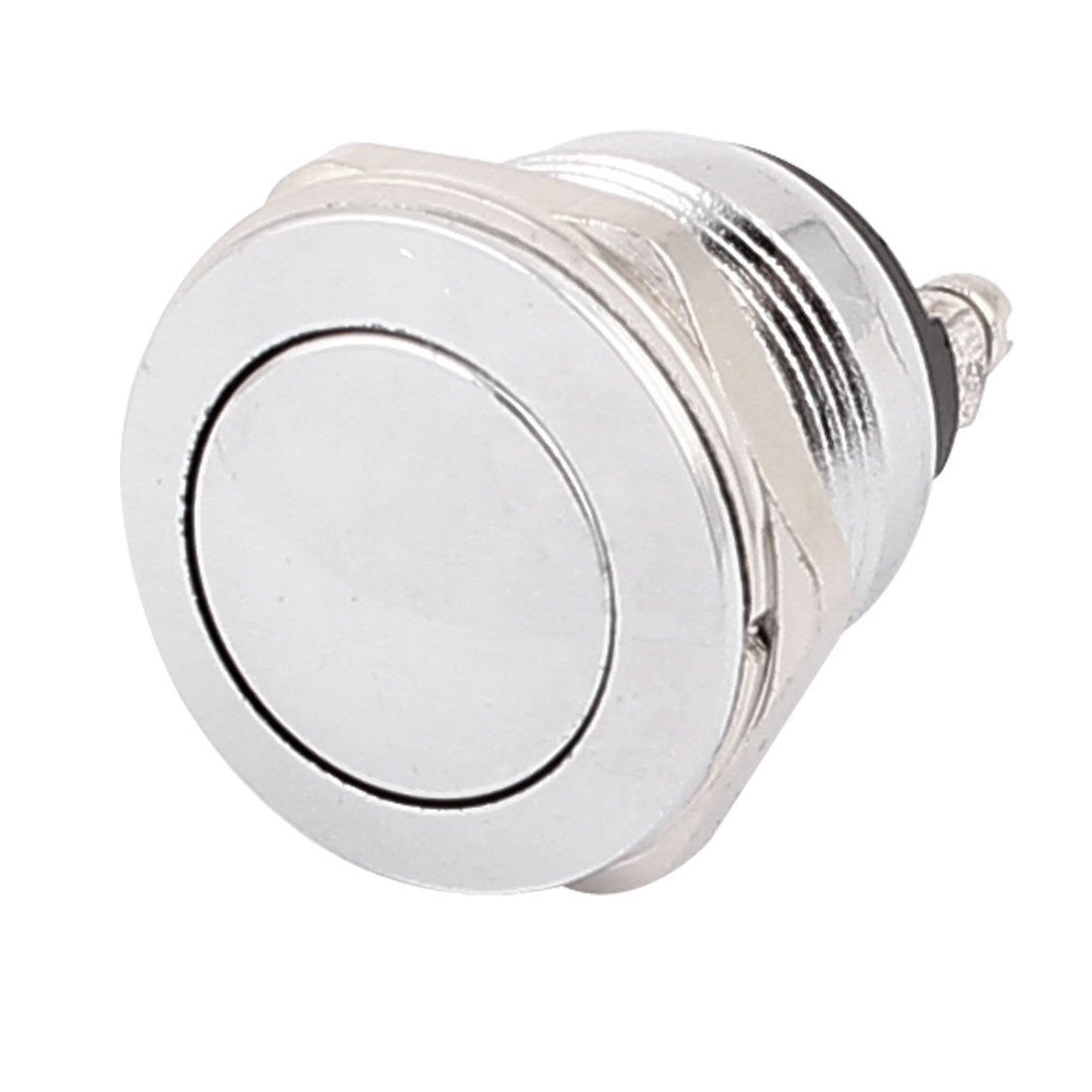 DC 36V 2A 18.5mm Thread Panel Mount SPST Momentary Metal Push Button Switch