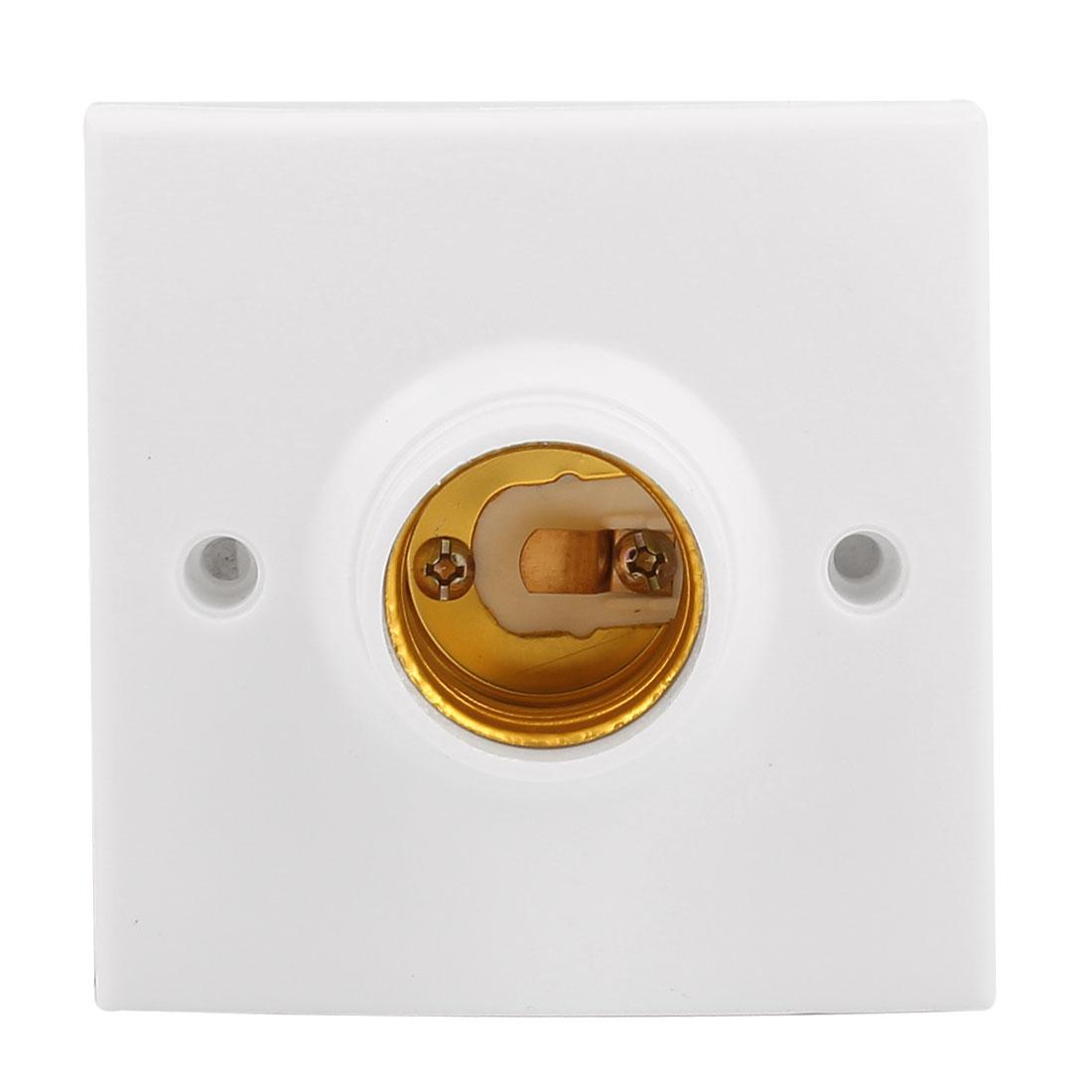 Square Base E26 AC 250V 60W Light Bulb Holder Socket Converter Adapter