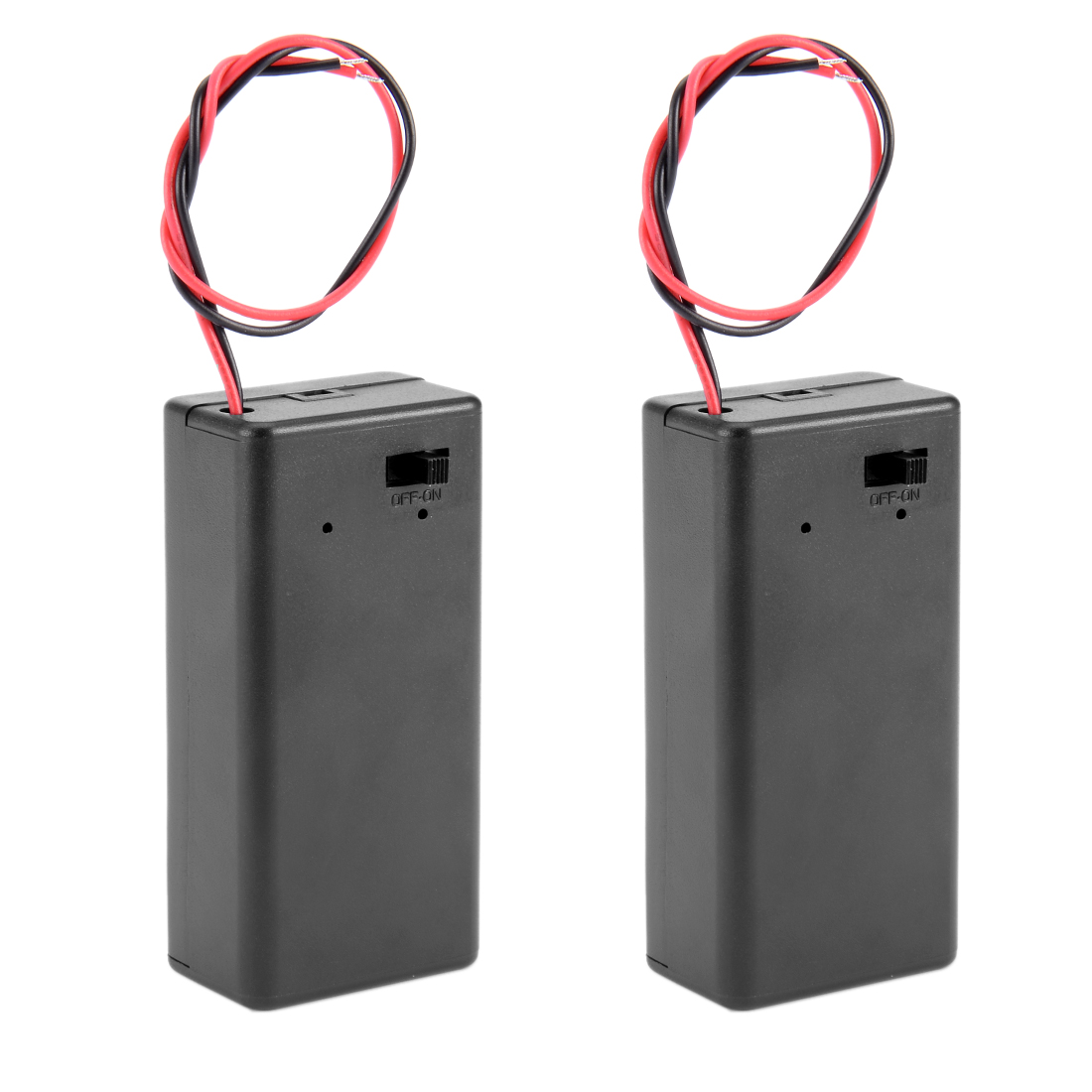 2Pcs ON/OFF Button Battery Covered Holder Box Case for 9V Battery