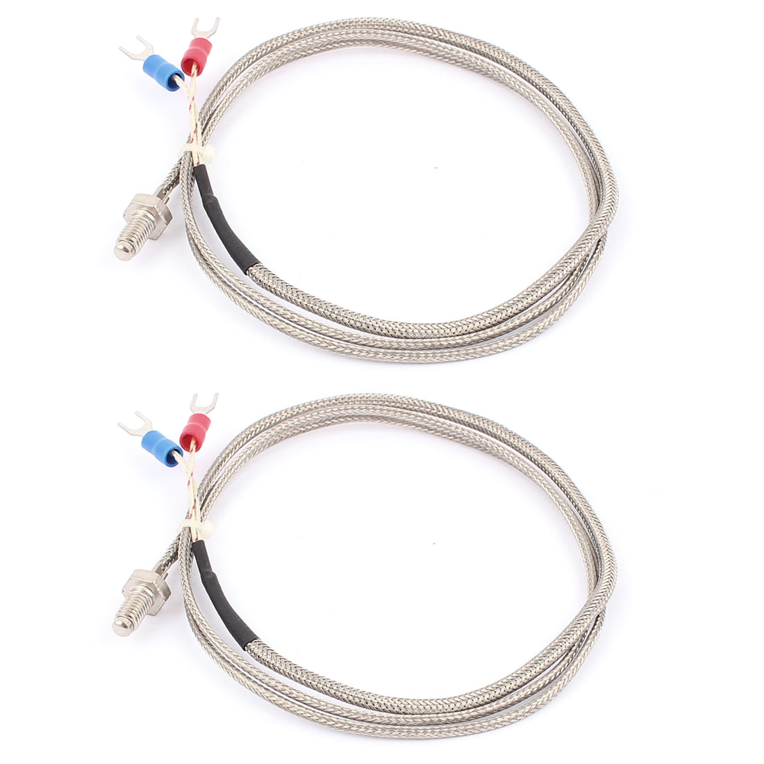 1M Cable 6mm Sensor Probe K Type Thermocouple Temperature Controller 0-400C 2pcs