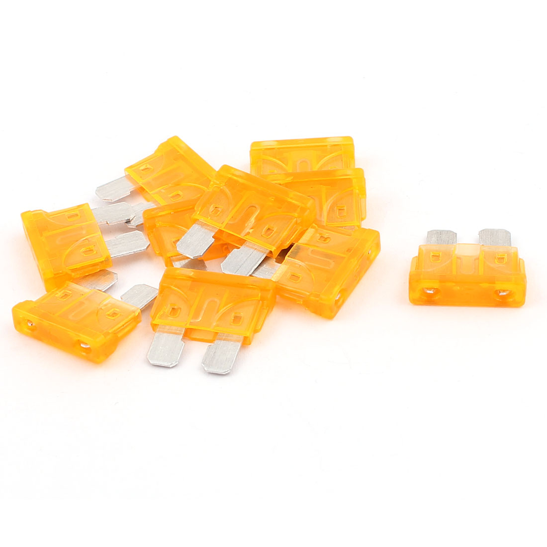 10pcs 5A Orange Plastic Housing Blade Fuse for Auto Car Truck Motorcycle SUV