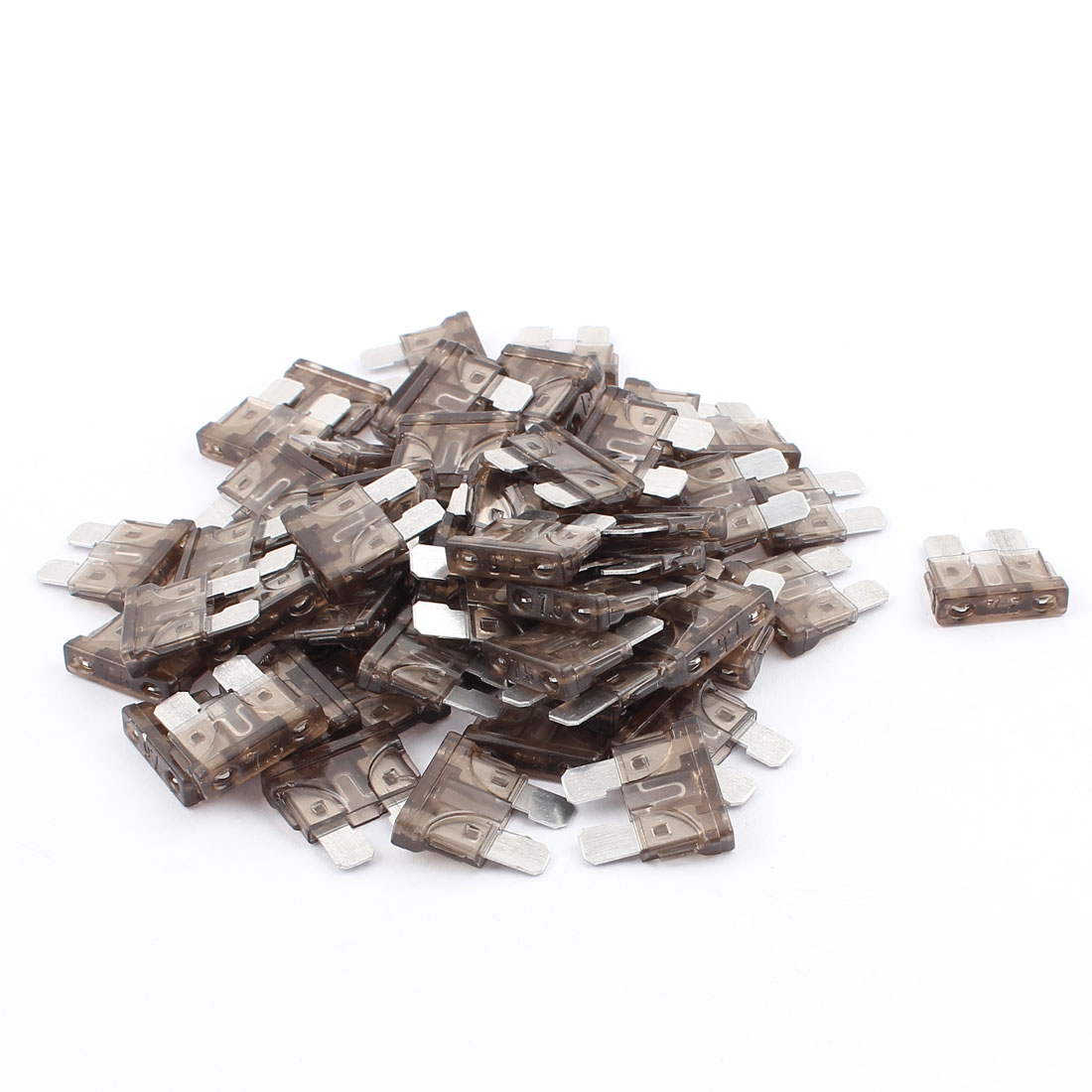 60pcs Automotive Motorcycle Car Caravan SUV Boat ATC ATO Mini Blade Fuses 7.5A Gray