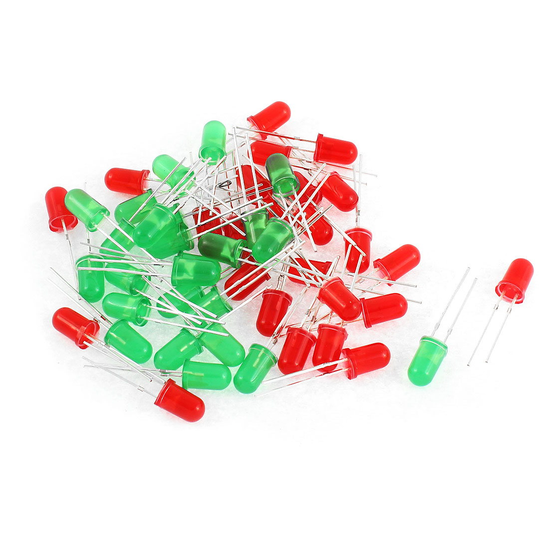 50pcs Red Green Diffused Emitting Diode Emission Tube Leds Component