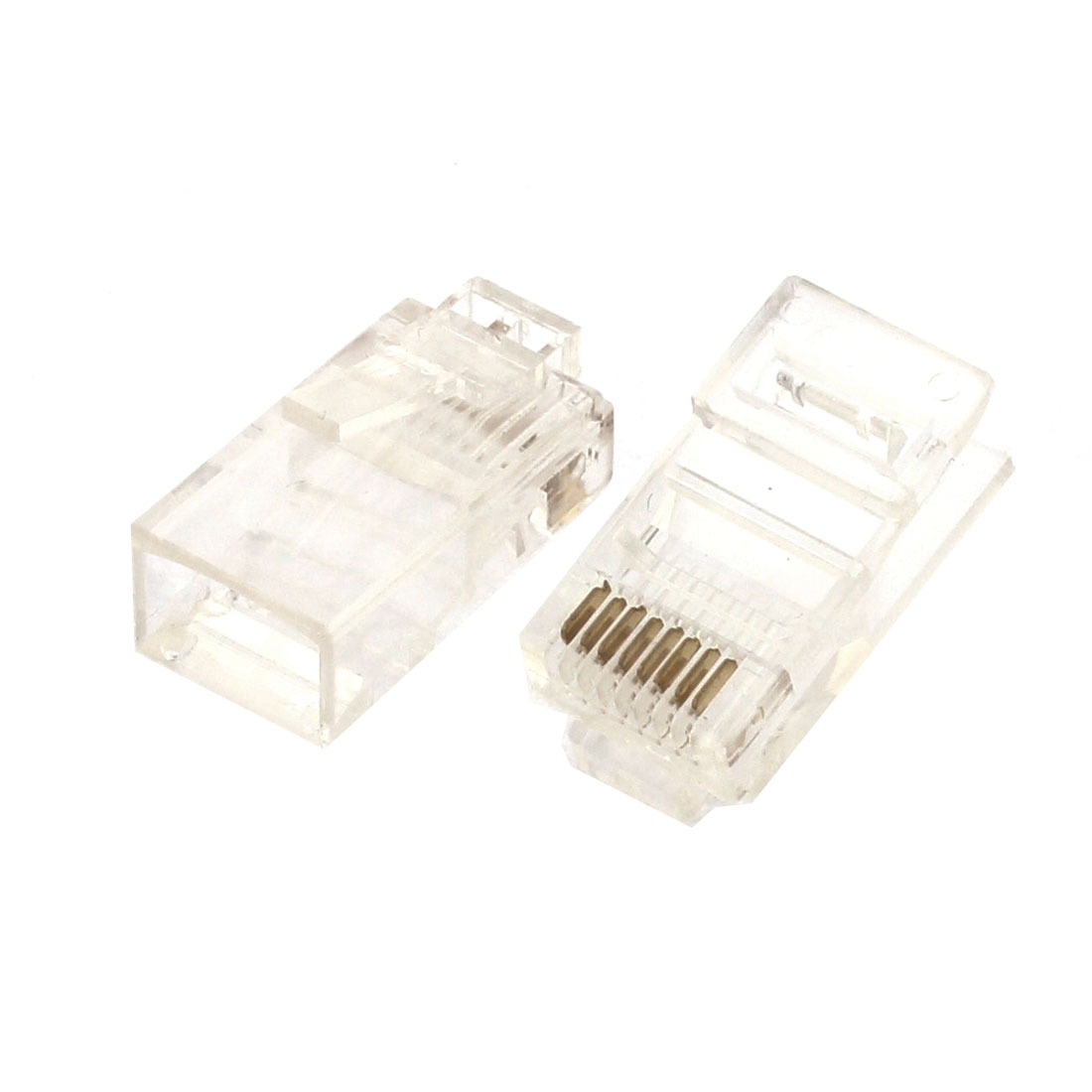 Cat5 Cat5e Network Cable 8P8C RJ45 Connector Plug Heads Modular 8pcs