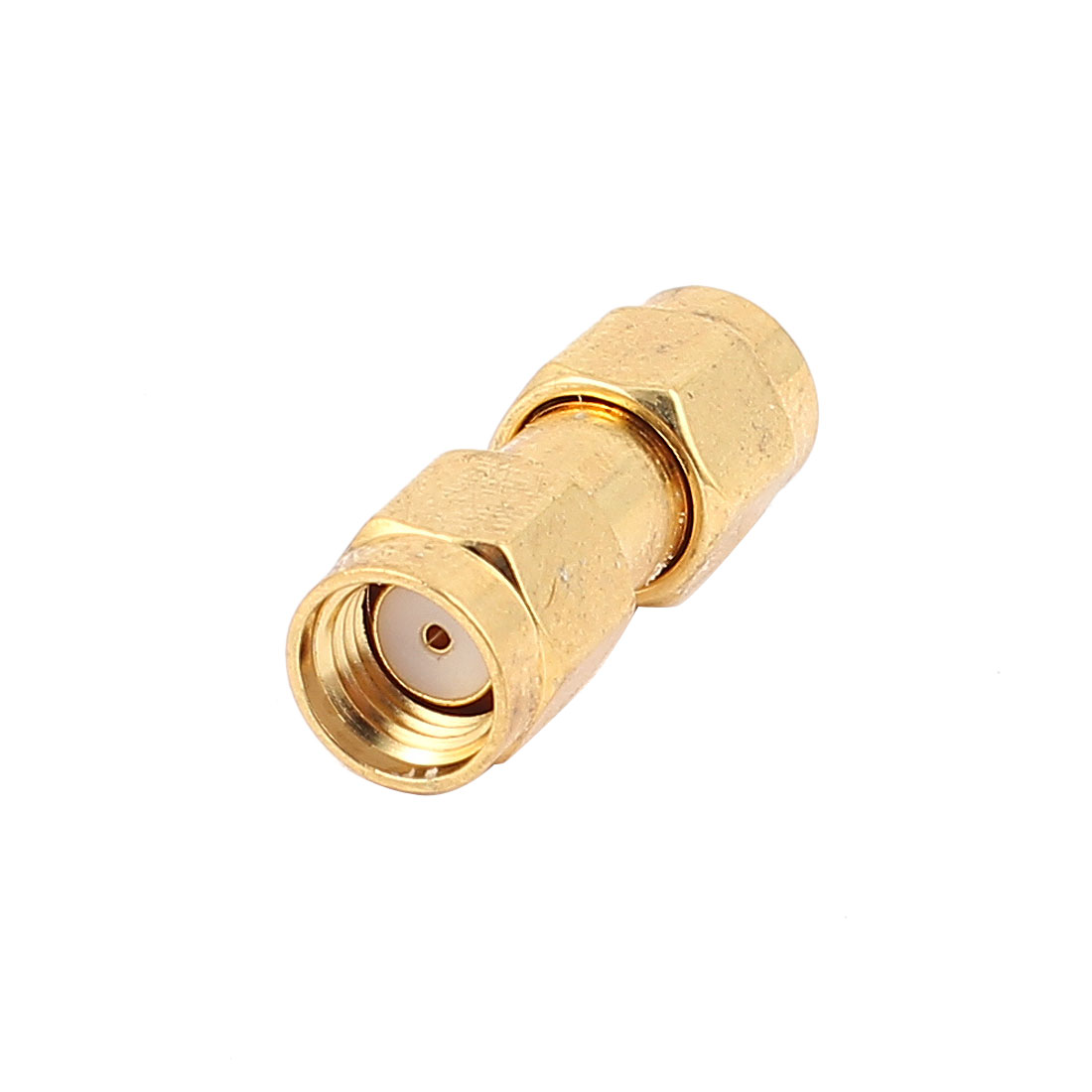 Gold Tone SMA Female to SMA Female RF Coaxial Adapter Connector