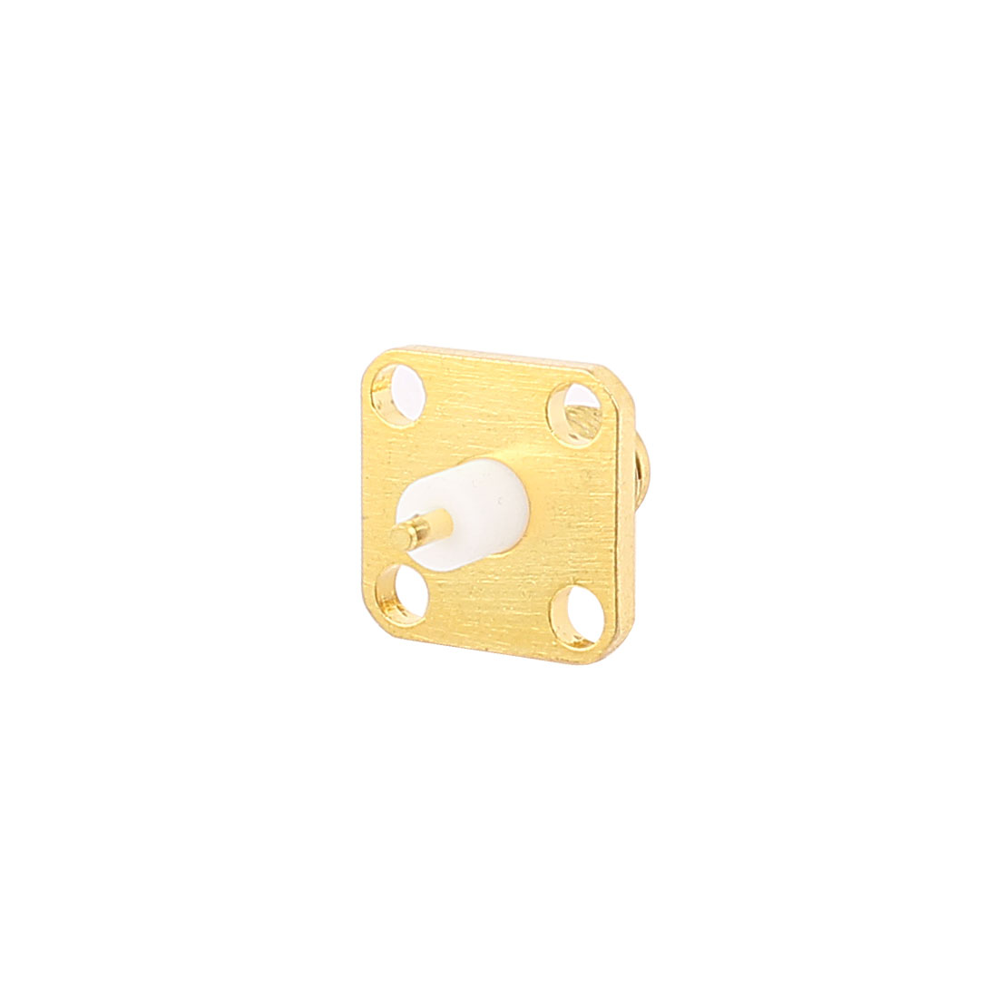 Female SMA Jack to 4-hole Flange Panel Mounting Coaxial RF Connector
