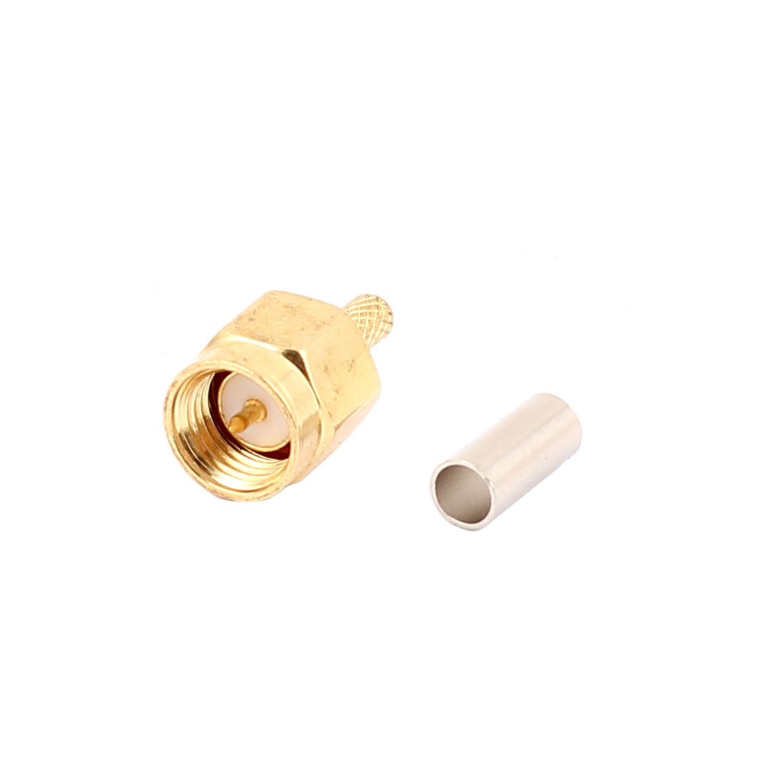 SMA Male Straight Adapter RF Coaxial Cable Connector w Ferrule