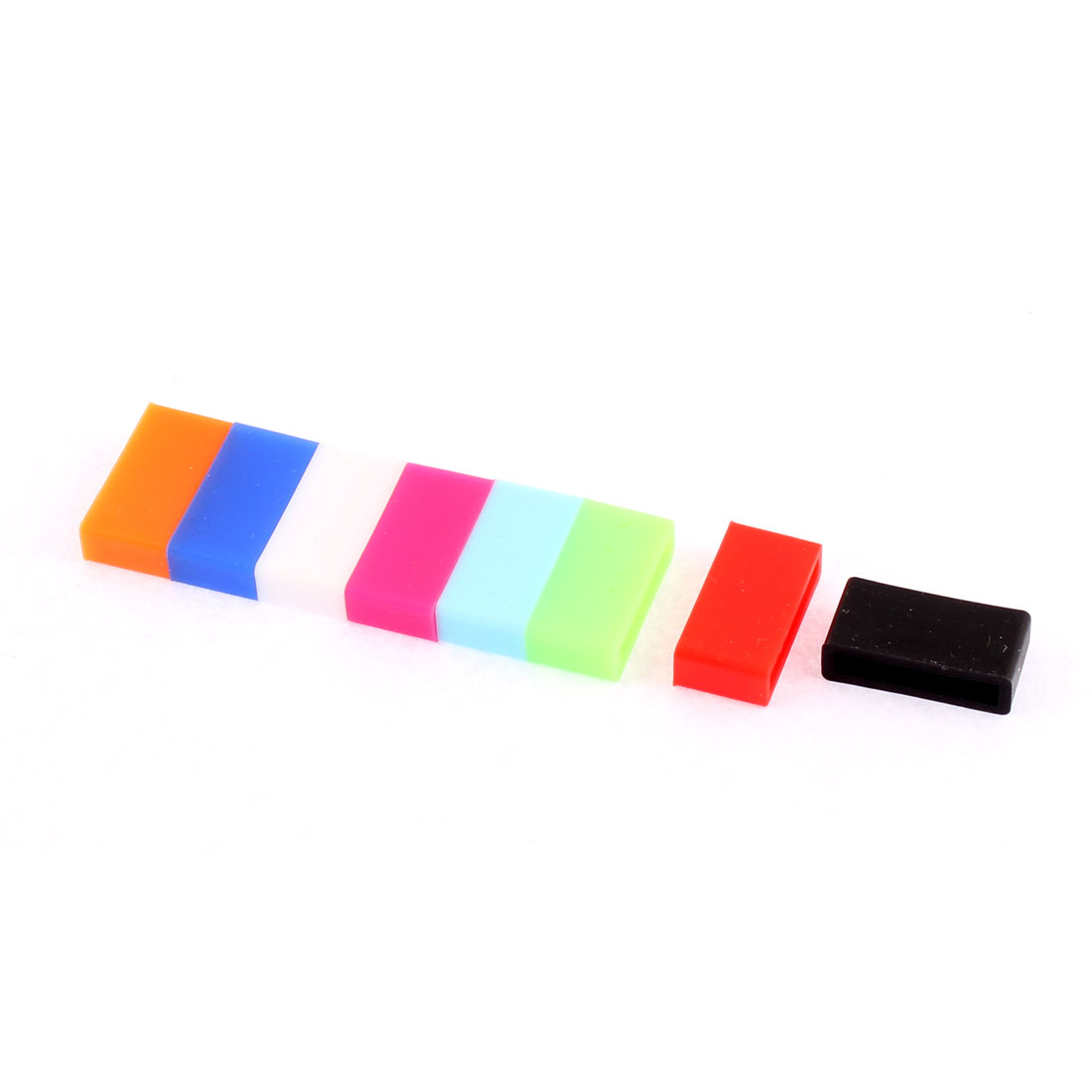 8pcs Antislip Silicone Retaining Band Watch Buckle Ring Hoop Loop Holder for 20mm Width Strap