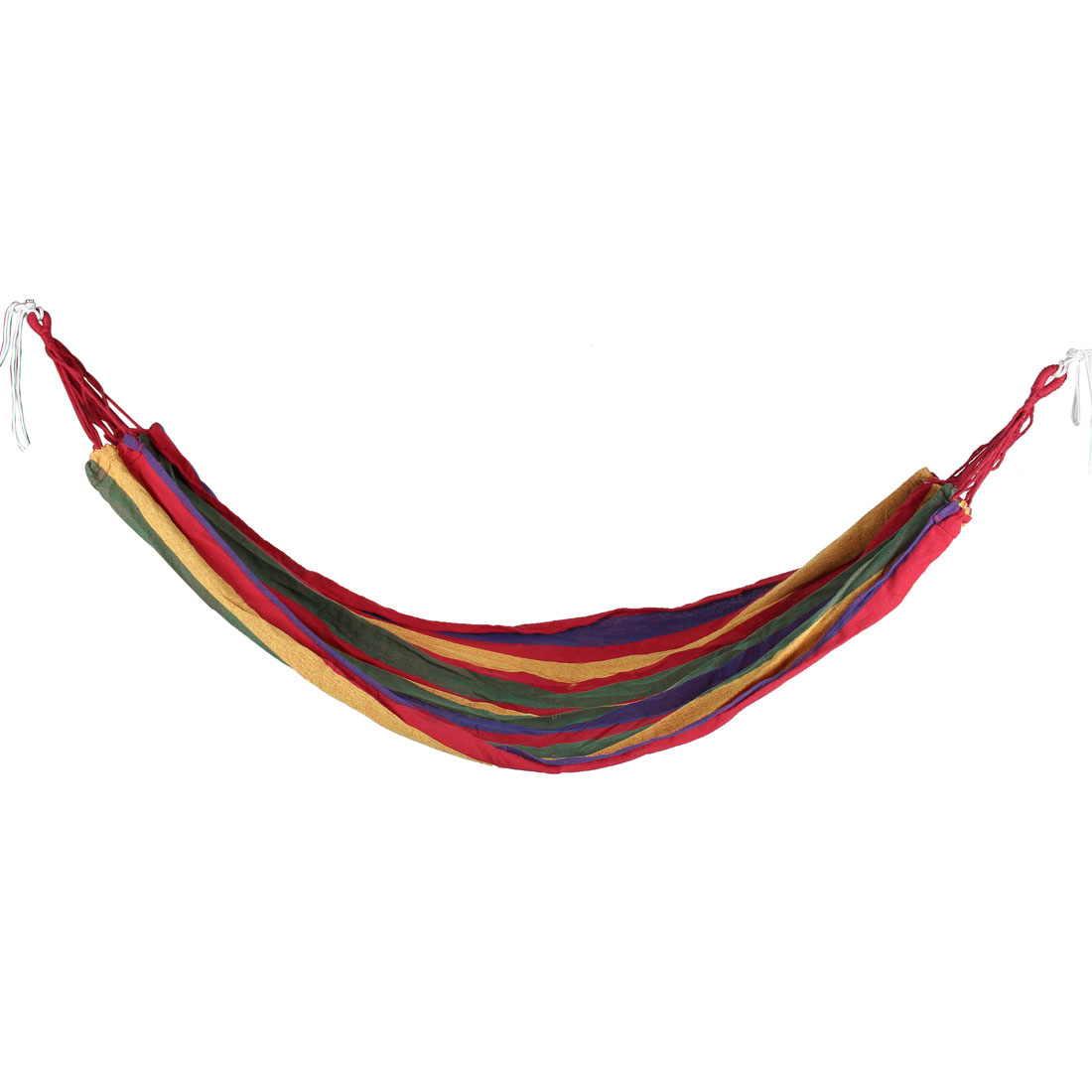 Outdoor Garden Camping Travel Colorfull Strips Canvas Hammock Sleeping Bed 280cmx82cm w Nylon Band