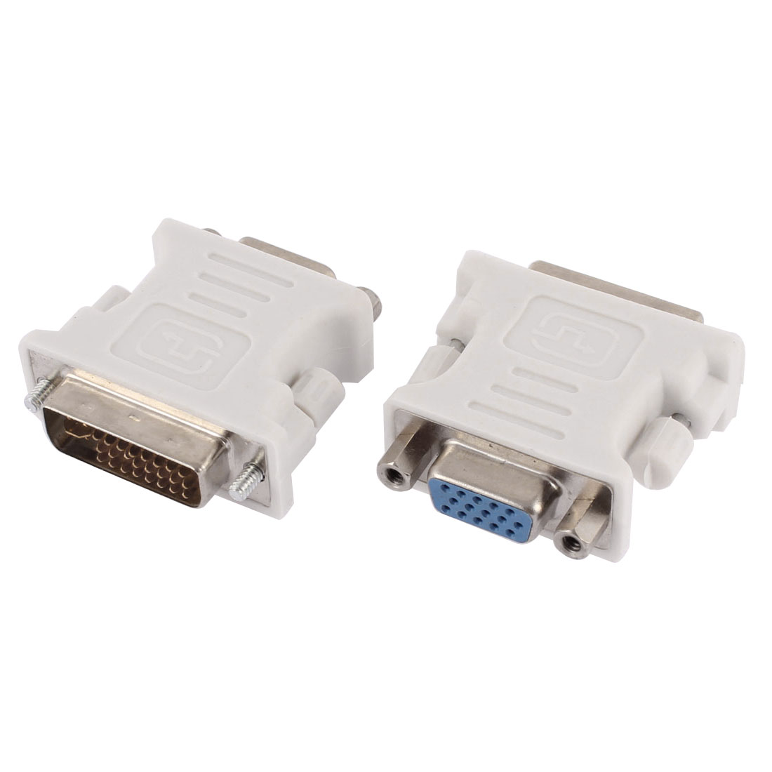 PC Computer DVI-I 24+5 Pin Male to VGA 15Pin Female Cable Adapter Converter Connector 2pcs