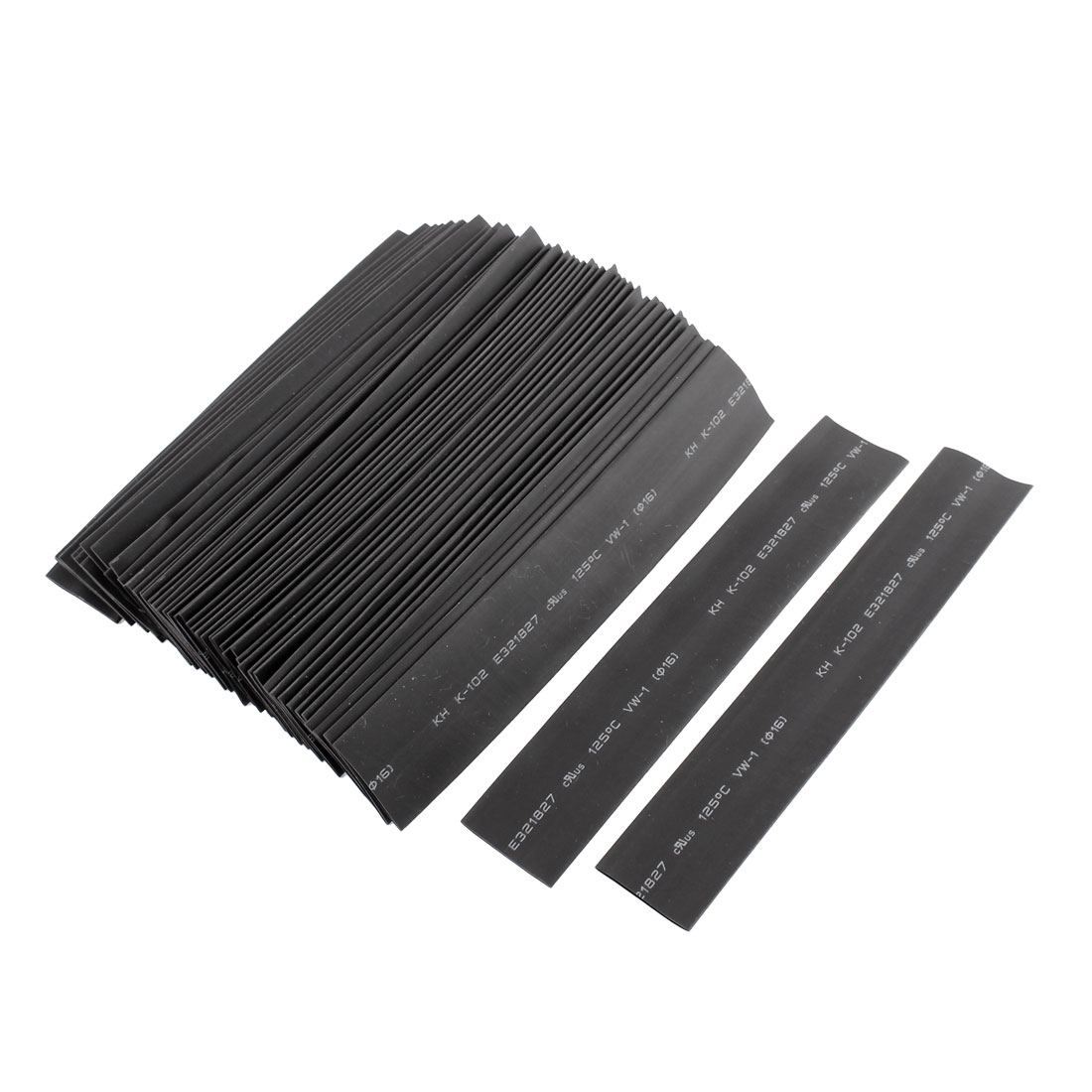 50pcs 15cm Long 16mm Dia 2:1 Black Polyolefin Heat Shrink Tubing Shrinkable Tube Sleeving Wrap