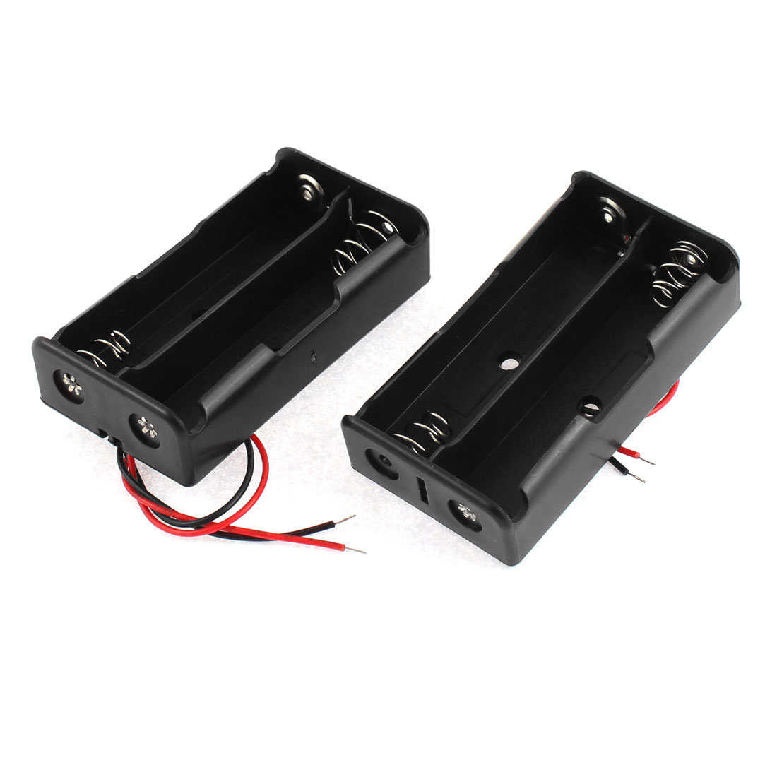 2pcs Spring Loaded Open Frame Plastic Battery Holder Case Storage Box for 2 x 3.7V 18650 Batteries