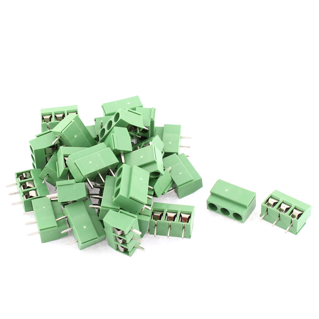 30pcs 300V 10A 3 Poles 5.0mm Pitch Pluggable PCB Terminal Block Cable Connector for AWG26-14 Wire
