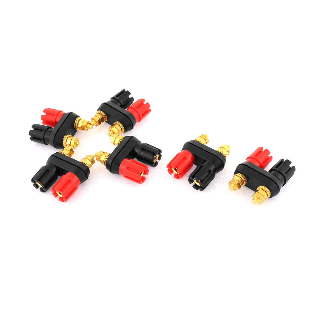 6pcs 5mm Thread Dual Jack Terminal Speaker Amplifier Binding Post for 4mm Banana Plug