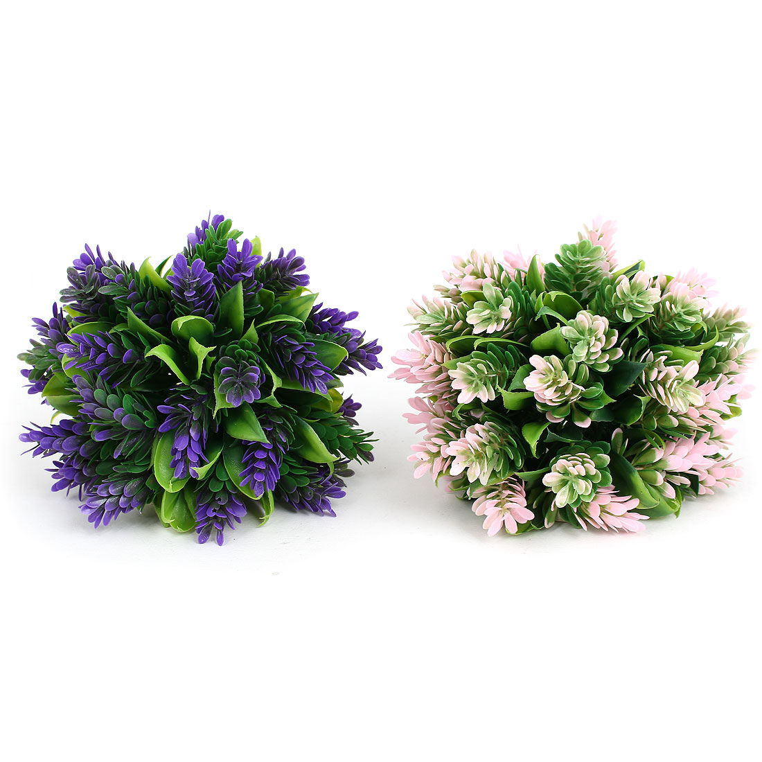 Aquarium Fish Tank Simulation Artificial Floral Plant Ornament 2 Pcs Mixed Color