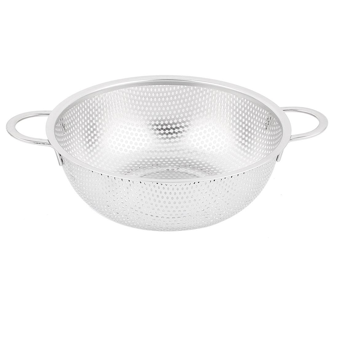 Kitchen Metal Vegetable Fruit Rice Washing Dainer Sieve Strainer Basket 7.7 Inch