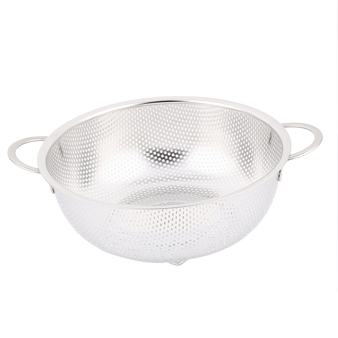 Kitchen Metal Vegetable Fruit Rice Washing Dainer Sieve Strainer Basket 8.5 Inch