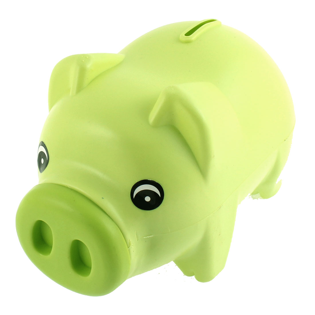 Plastic Pig Shape Money Cash Penny Cent Saving Pot Coin Piggy Bank Light Green
