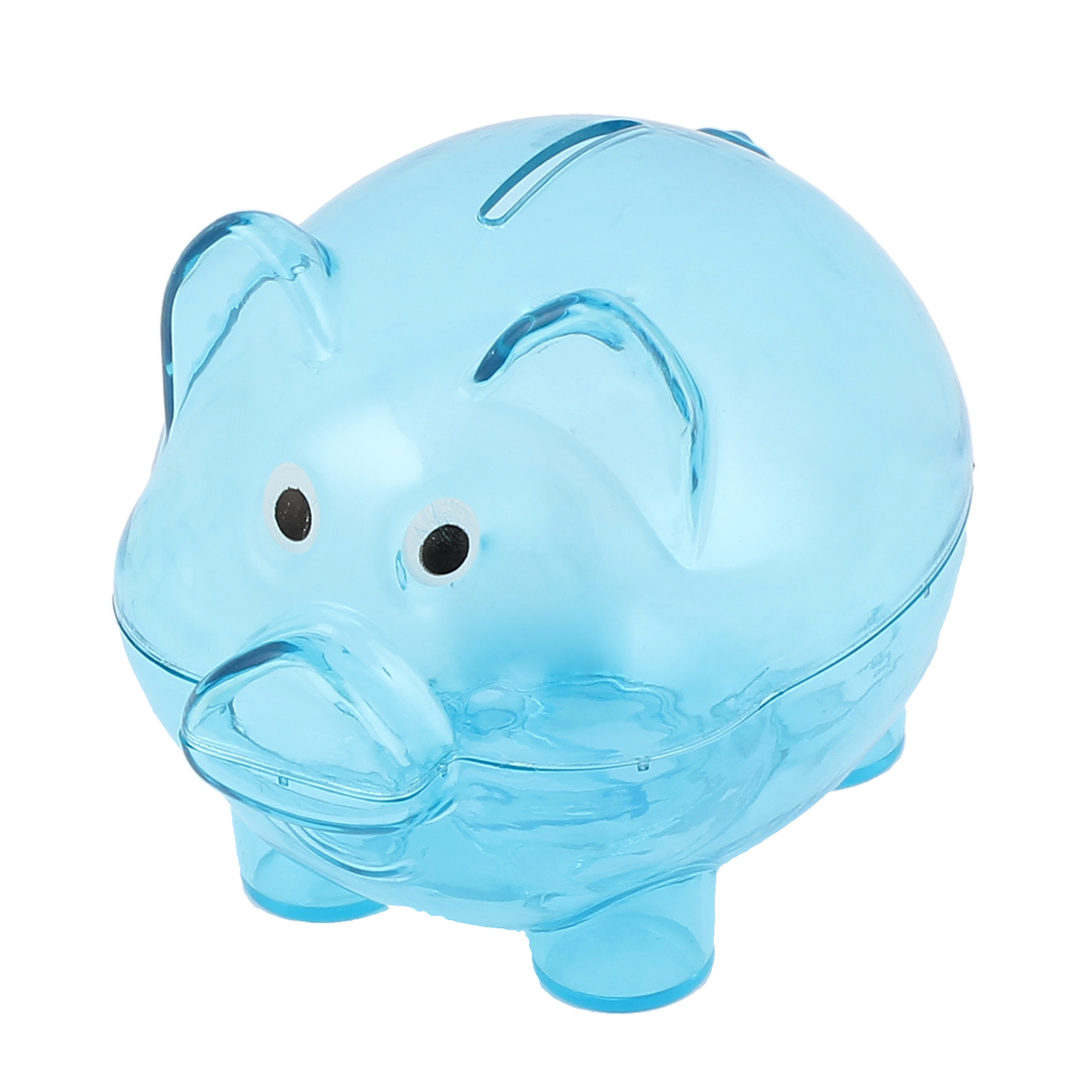 Plastic Pig Shape Money Cash Penny Saving Pot Coin Mini Piggy Bank Clear Blue