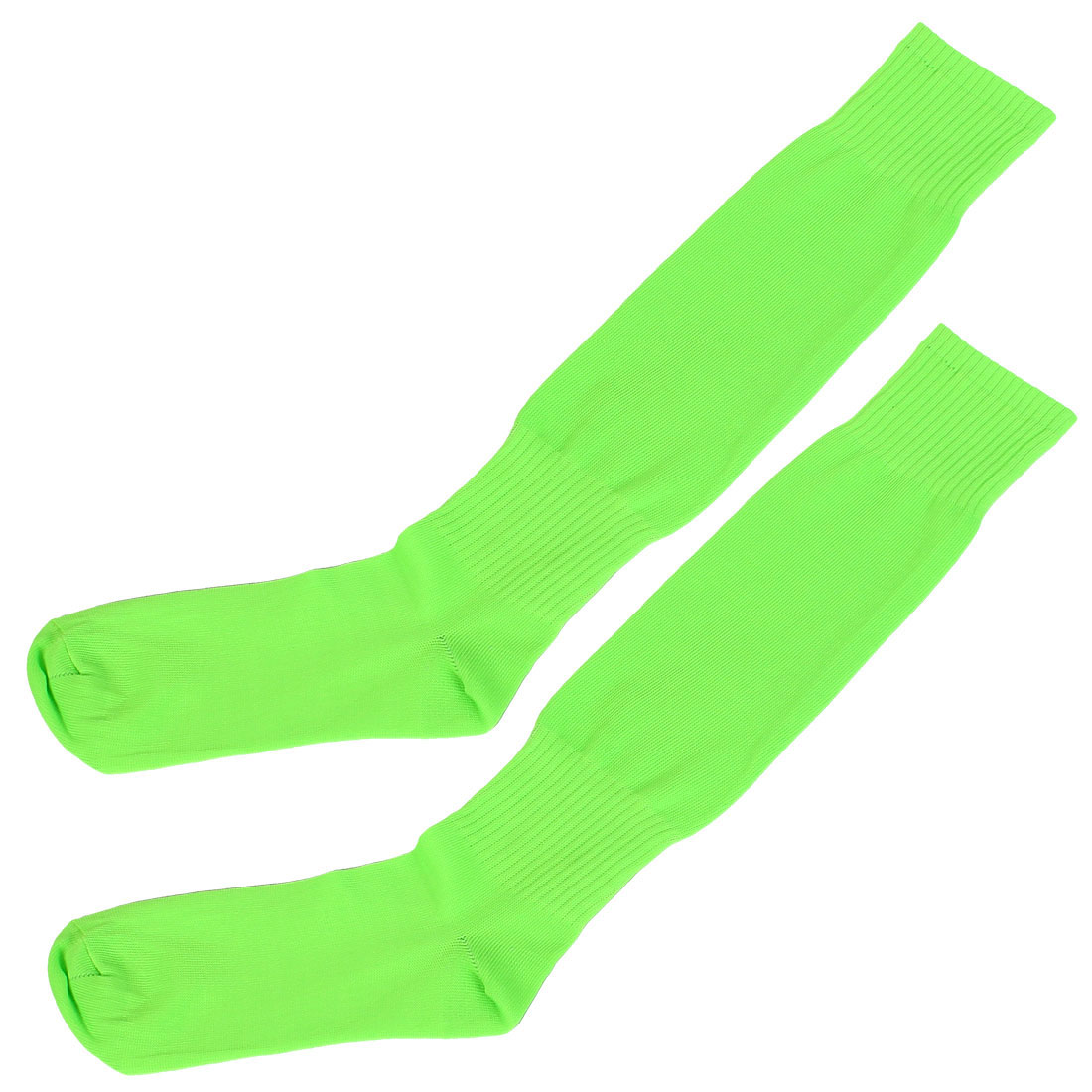 Men Sport Rugby Baseball Basketball Soccer Football Socks Pair Fluorescent Green
