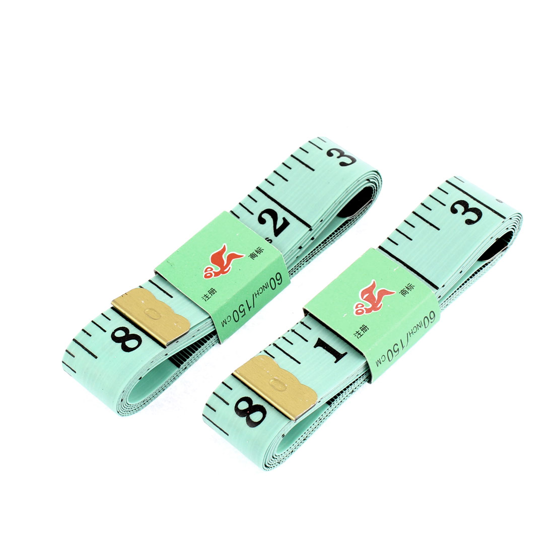 Body Measuring Tape Tailor Sewing Soft Measure Ruler 1.5M 60 Inch 2 Pcs Green