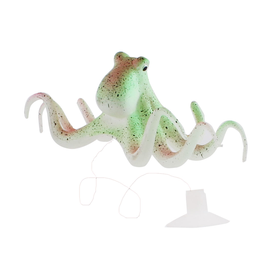 Silicone Emulation Aquarium Fish Tank Suction Cup Octopus Ornament Multicolor