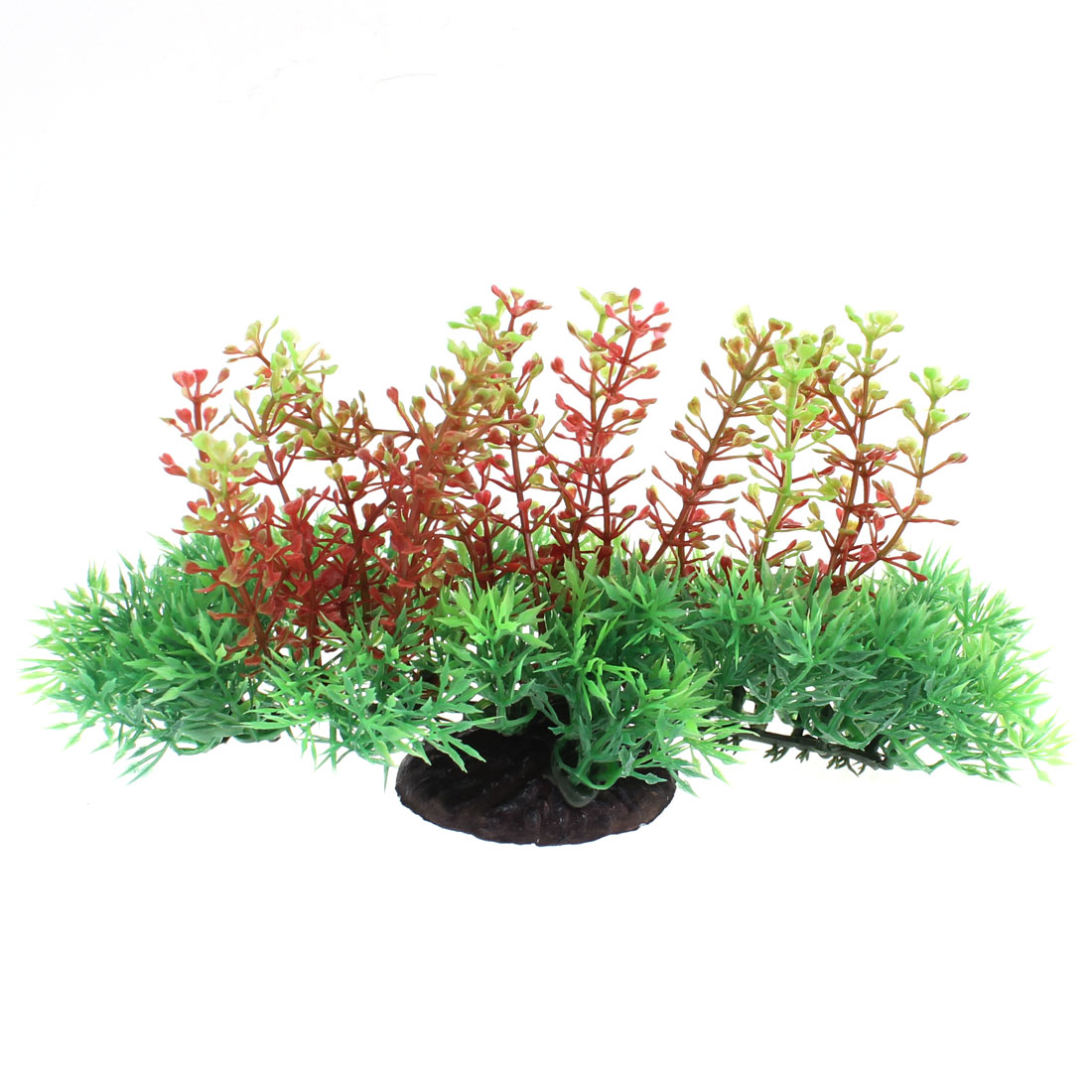 Aquarium Fish Tank Plastic Artificial Underwater Plant Tree Ornament Red Green