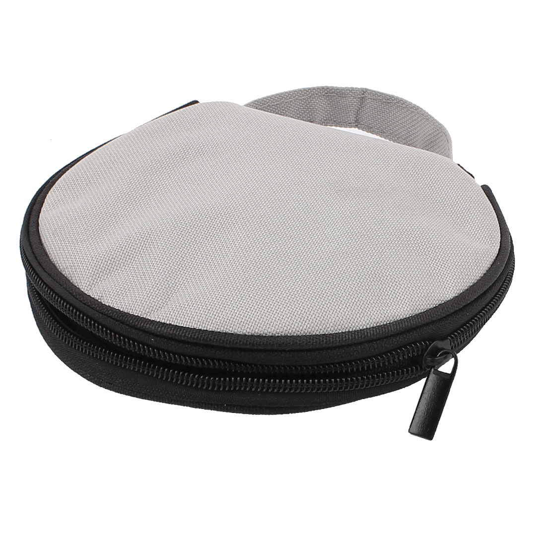 Nylon Round CD DVD 20 Disc Storage Carry Case Holder Cover Pouch Bag Gray Black
