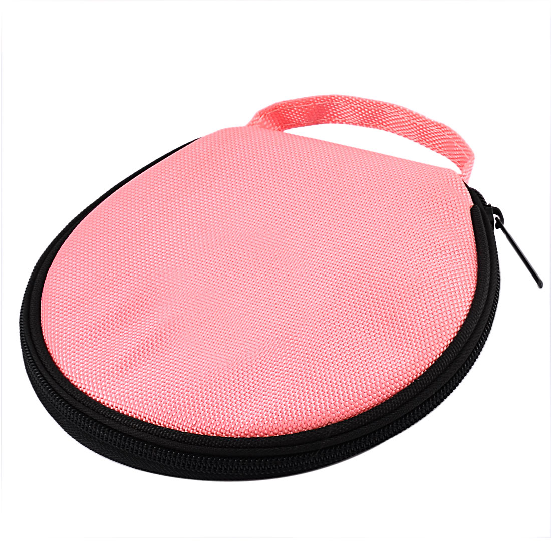Nylon Round CD DVD 20 Disc Storage Carry Case Holder Cover Pouch Bag Pink Black