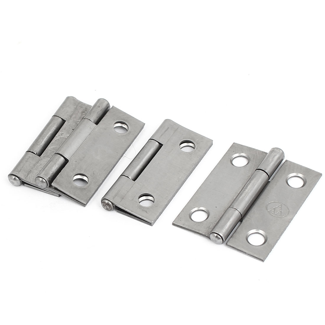 "Cupboard Showcase Door Toolbox Iron Butt Hinge Silver Gray 1.5"" Long 4pcs"
