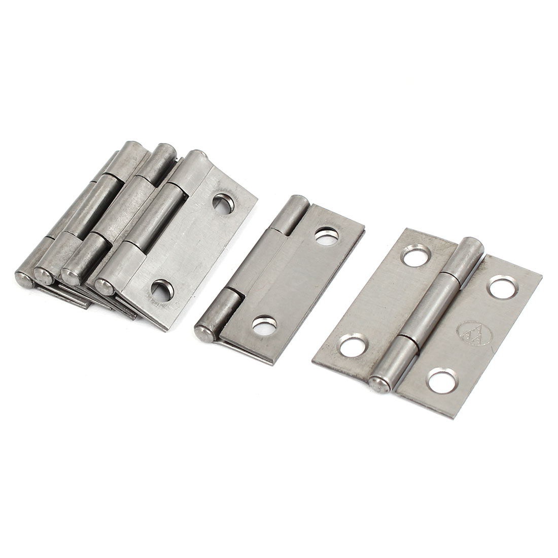 "Cupboard Showcase Door Toolbox Iron Butt Hinge Silver Gray 1.5"" Long 6pcs"